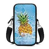 Bolso bandolera para teléfono móvil con correa de hombro extraíble Piña en agua bolsa...