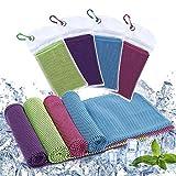 Diealles Shine 4 Pack Toalla de Enfriamiento, 90 x 30 cm Toalla Refrescante para Gimnasio,...